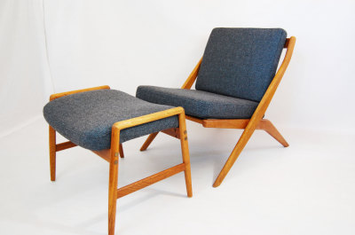 North west, WA, West coast, Folke Ohlsson, grey, gray, Seattle, Washington, Dux, Scissors lounge chair, ottoman, Sweden, Scandinavian, mcm, mod, mid century modern, vintage, furniture, teak, mid century 55, midcentury55, Seattle, Danish modern,