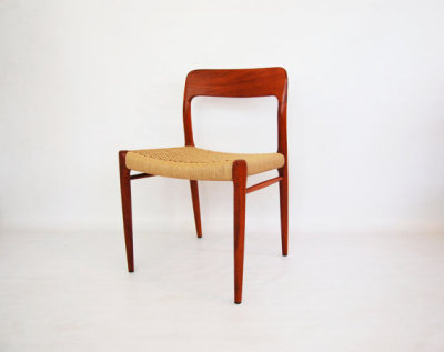 Desk chair, Moller, Model 75, Niels Otto Moller, J L Moller, teak, dining chairs, North west, WA, West coast, paper cord, Seattle, Washington, Denmark, Scandinavian, mcm, mod, mid century modern, vintage, furniture, teak, mid century 55, midcentury55, Seattle, Danish modern,