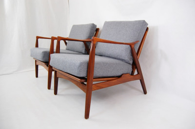 Arne Hovmand Olsen, Mogens Kold, France and Son, teak, refinished, Lounge chair, Danish Modern, living room furniture, MCM, wood frame, wooden arms, North west, West coast, Seattle, Washington, WA, mcm, mod, mid century modern, vintage, furniture, mid century 55, midcentury55, Danish Modern, Seattle, Herman Miller, 1950s, Scandinavian, Denmark,  Norwegian, Norway,