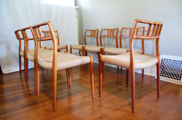 Niels otto moller, j l moller, teak, dning chairs, model 79, set of 8, paper cord, dining chairs, 1960, Scandinavian, Denmark, Danish modern, furniture, 1960s, MCM, North west, West coast,  Seattle, Washington, WA, mcm, mod, mid century modern, vintage, mid century 55, 1950s, vintage, furniture, midcentury55,